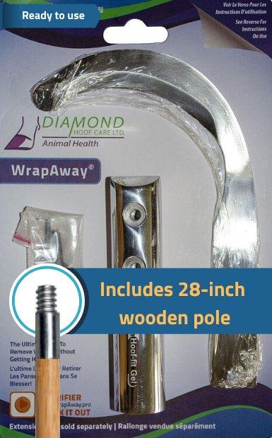 WrapAway Wooden pole
